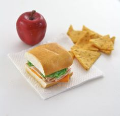 Turkey Sub With an Apple and Tortilla Chips Food for by pippaloo