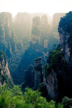 Hunan is soooo on my bucket list!Zhangjiajie (Hunan. Chine) by Yves ANDRE, via Flickr