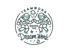 Teamwork Dream Work Badge Logo The post Teamwork Dream Work Badge Logo appeared first on Design. Creative Logo, Badge Design, Icon Design, Design Design, Identity Design, Visual Identity, Journey Logo, Badges, Teamwork Logo