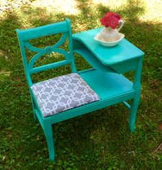 Sold by Treasured Thriftique, LLC. Refinished by our talented artist on staff from New Old Finds.