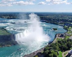 Horseshoe Falls of Niagara, taken from the Skylon Tower.