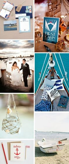 like!!! nautical wedding