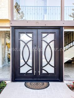 🏬🏬🏬 Want to make a Bold statement with your next iron door design? Then you're going to love what we have in store for you! -- ☎️☎️☎️ Call 877-205-9418 for Orders and Inquiries 💰💰💰 Ask us about our EXCEPTIONAL OFFERS 🆓🆓🆓 Take advantage of FREE CONSULTATION and FREE DESIGN ⚠️⚠️⚠️ About this Beautiful IRON DOOR: Concentric Left Hand Inswing Double Iron Door with Long Stainless Pull Handles. -- #ironfrontdoor #irondoorsnearme #irondoorcompany #cheapirondoor #modernirondoors Iron Front Door, Wrought Iron Doors, Pull Handles, Door Design, Free Design, Store, Beautiful, Home Decor