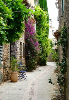 Walking street in Grimaud, France | Flickr