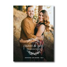 Torres Family Holiday Christmas Photo Card Peace and Joy by Then Comes Paper :: RGV Moms Blog
