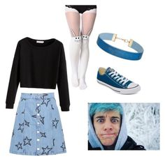 """""""Crankgameplays inspired Outfit- Casual"""" by artfreak1154 on Polyvore featuring Être Cécile, Miss Selfridge and Converse"""
