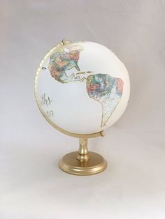 Guestbook Alternative Envelope Wedding Card Box World Globe With Custom Calligraphy And Decoupage Maps Large Globes TerrestresBoite De Carte