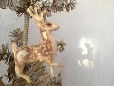 Reindeer Ornament~Spun Cotton by Arbutus Hunter