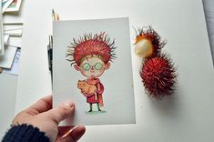 Marija Tiurina delightful characters inspired by exotic fruits in beautiful watercolor paintings   #art #characterdesign #drawing #food #foodart #fruit #graphicdesign #illustration #lithuania #london #marijatiurina #painting #uk #vegetable #watercolor