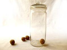 Antique bocal français en verre soufflé par LeGrenierDeFrancine