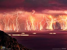 The Everlasting Storm - Most tremble at the sights and sounds of lightning & thunder. But imagine if you had to endure an epic storm tha. All Nature, Science And Nature, Amazing Nature, Blitz Foto, Catatumbo Lightning, Images Cools, Cool Pictures, Cool Photos, Storm Pictures