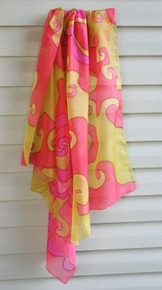 Silk scarf hand painted Infinity love by ArtStudioInfinity on Etsy
