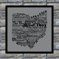 Ohio State Word Art Typography Print The Buckeye by DefineDesign11, $12.00