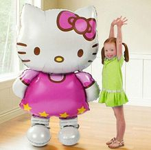 1pcs/lot Large Size Cute Hello Kitty Foil Balloons Baby Birthday Wedding Balloon Party supplier Decoration KT Cat helium globos(China (Mainland))