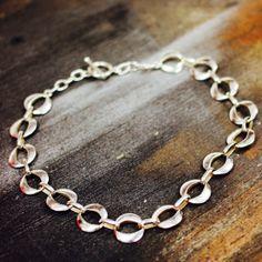 Vintage Sterling Silver Large Link Necklace (15.5)