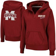 LIMITED TIME: All sweatshirts, jackets and hats are marked down 15-40% at Fanatics. Get this sweatshirt for only $35.66: http://pin.fanatics.com/COLLEGE_Mississippi_State_Bulldogs_Ladies/Mississippi_State_Bulldogs_Ladies_Heritage_V-Neck_Hoodie_Pullover_-_Maroon/source/pin-missst-sweats-sale-sclmp
