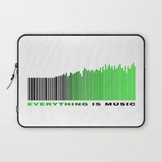 #laptopsleeve #laptop #music #text #barcode #green