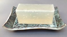 Rectangular ceramic soap dish by SherrisCollection on Etsy