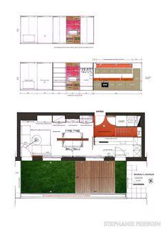 Cet appartement Duplex situé au 4e et dernier étage offre une surface totale de 110m² dont seulement 83m² sont exploitables. Durée des travaux 4 mois et demi. - Plus de photos sur Côté Maison