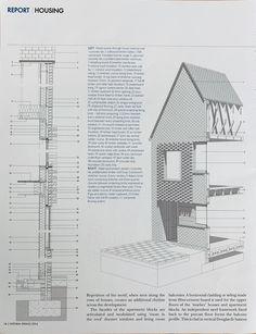 Brick Architecture, Architecture Details, Present Drawing, Presentation Styles, Brick Detail, Upvc Windows, Corner House, Brickwork, Planer