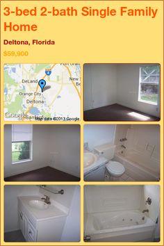 3-bed 2-bath Single Family Home in Deltona, Florida ►$59,900 #PropertyForSale #RealEstate #Florida http://florida-magic.com/properties/11990-single-family-home-for-sale-in-deltona-florida-with-3-bedroom-2-bathroom