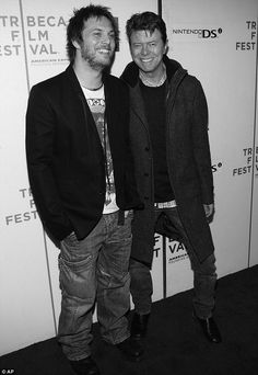 David and his filmmaker son, Duncan Jones, at the premiere of his movie Moon in…