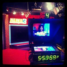 WREG-TV news anchor/reporter Stephanie Scurlock before the 6PM Saturday newscast. #WREG @3onyourside