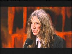 Why I love Patti Smith - 2007 acceptance speech to the Rock & Roll Hall of Fame. Pure class.