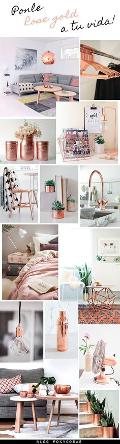 LA TENDENCIA DEL ROSE GOLD. ROSA DORADO EN DECORACIÓN.