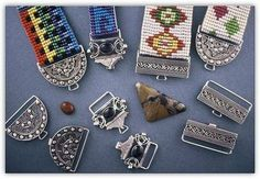Loom beading photos - Google Search - look at all those clasps!!!