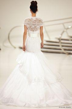 atelier aimee bridal 2014 tina wedding dress back view train