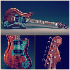 "#p87 beautiful custom built guitar ""Phoenix"" by Scott Walker !"