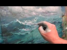 Seascape oil painting. Ocean. Part 2. - YouTube