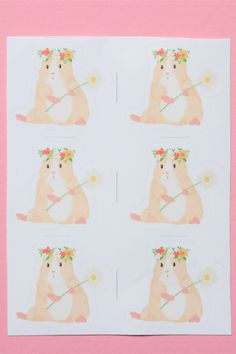 Guinea pig stickers 30 pcs on sheets Sticker Paper, Stickers, Cute Guinea Pigs, Things To Come, Cards, Gifts, Presents, Sticker, Maps