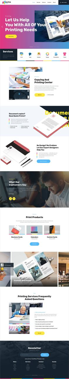 AlphaColor is clean and modern design responsive #WordPress theme for #print and copying services, #graphicdesign studio or freelancer designers website to live preview & download click on Visit