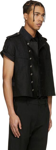 Ann Demeulemeester - Black Biker Vest