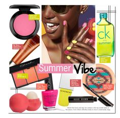 """Summer Vibe"" by kusja ❤ liked on Polyvore featuring beauty, Piggy Paint, Calvin Klein, By Terry, MAC Cosmetics, Givenchy, Eos, Bobbi Brown Cosmetics, Beauty and makeup"