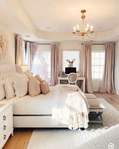 The way you decorate your home is somehow similar to choosing beautiful clothes to wear on a daily basis. An impressive interior decoration of your home or office is essential for your own state of mind, if nothing else. Girl Bedroom Designs, Room Ideas Bedroom, Home Decor Bedroom, Dream Rooms, Dream Bedroom, Master Bedroom, Pretty Bedroom, King Bedroom, Stylish Bedroom