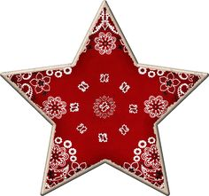 STAR CLIP ART. Idea: make an ornament by using a handkerchief, decoupage, and a star shape.