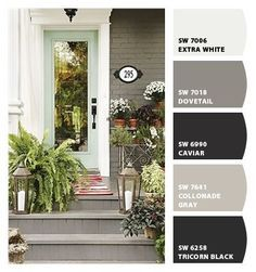 Exterior paint colors by Sherwin Williams: dovetail, Greek villa ...