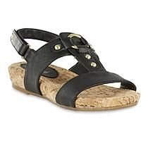 T-strap sandals from Jaclyn Smith