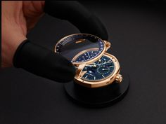 An astronomical watch par excellence, this Perpetual Calendar features a blue aventurine dial and subdials recalling a star-lit sky, and an pink gold case. Astronomical Watch, Perpetual Calendar, Match Making, Audemars Piguet, Heavens, Pink And Gold, Rolex Watches, Moon, Accessories