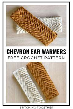 Crochet Ear Warmer Pattern, Crochet Headband Pattern, Knitted Headband, Crochet Beanie, Crochet Simple, Crochet Diy, Crochet Crafts, Simple Crochet Patterns, Easy Crochet Projects