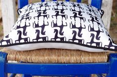 Pillows inspired from ancient Greece from the new collection KYANOS by Lacrimosa Design.  www.lacrimosadesign.com Ancient Greece, Bed Pillows, Apron, Inspired, Bags, Collection, Shopping, Design, Pillows