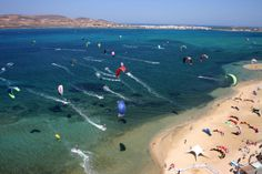 "Sail in Paros island and visit the Punda Beach! Well known for its vibrant nightlife and as a kitesurfing hot-spot!! Feel the wind!!!!! We have ""pinned"" it as an ideal place for kitesurfing!! #sports #nightlife #sailing #paros #punda Learn more: sail-la-vie.com/..."