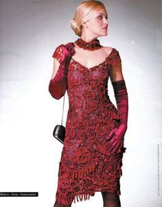 Irish Crochet dress……..