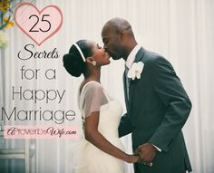 25 Secrets for a Happy Marriage