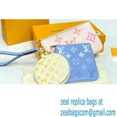 Louis Vuitton Monogram Empreinte Leather Trio Pouch Bag M80407 By The Pool Capsule Collection 2021