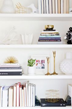 shelf decorating ideas via Apartment 34