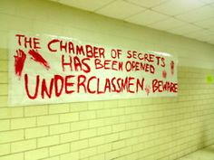 Some seniors turned their school into Hogwarts for their senior prank... genius!